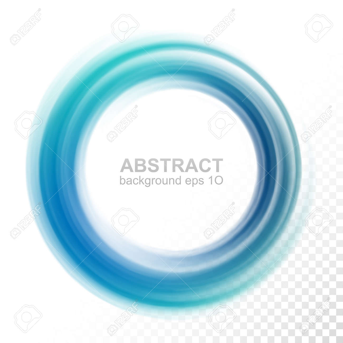 Abstract Transparent Blue Swirl Circle Vector Illustration Eps