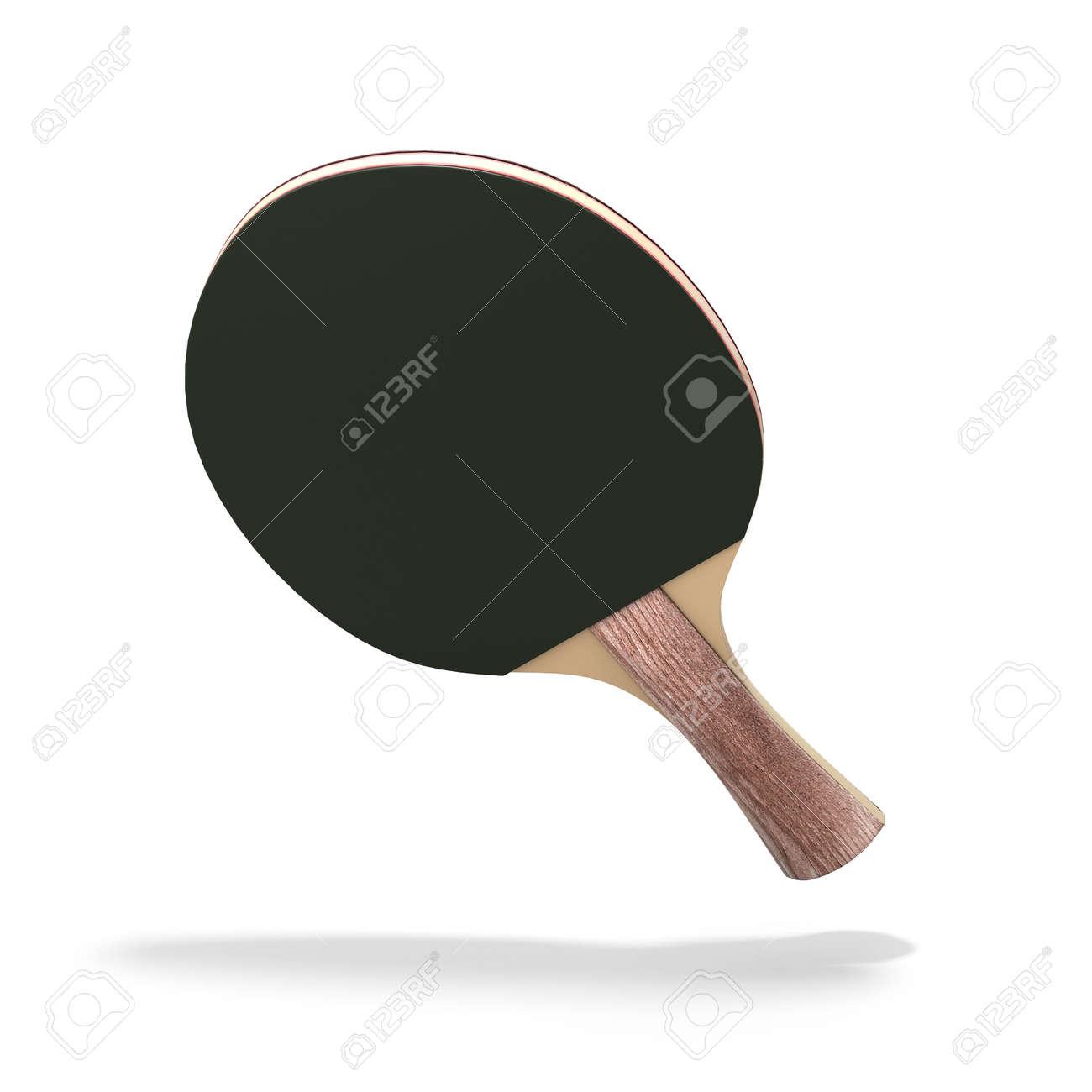Raqueta Mesa De Ping-pong Aislado Sobre Fondo Blanco. 3d Ilustración ...