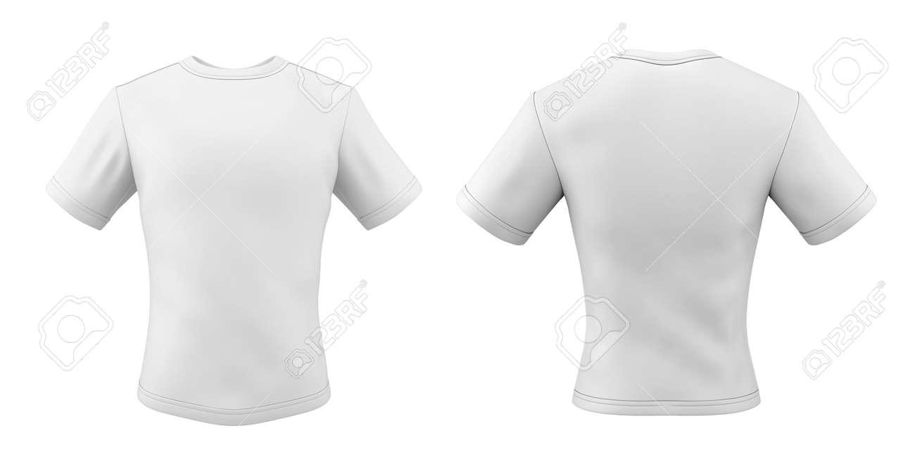 Camiseta Blanca Aislada En El Fondo Blanco. Plantillas Camisetas ...