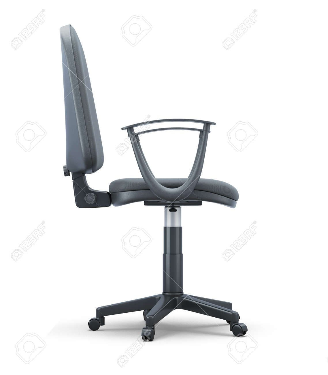 office chair side. Interesting Office Office Chair Side View Isolated On White Background 3d Render Image Stock  Photo  Throughout Chair Side S