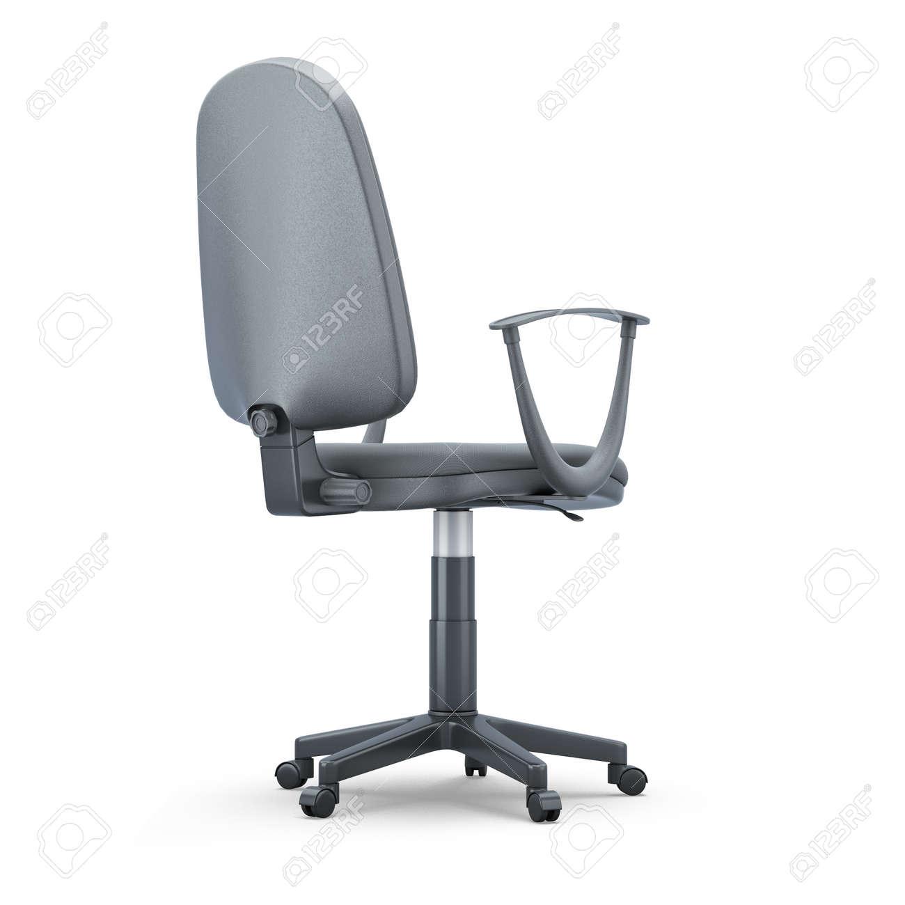 Chaise de bureau confortable isolé sur fond blanc. 6d illustration.
