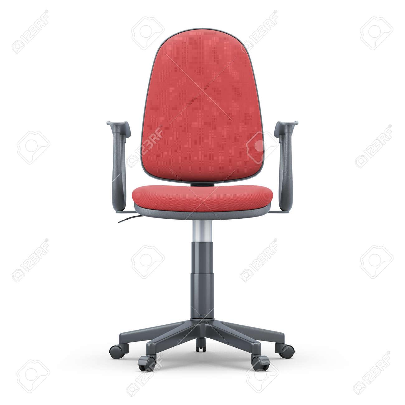 De 3d Con Un Silla Sobre Oficina Roja BlancoIlustración Fondo Tapicería 0O8wvmNn
