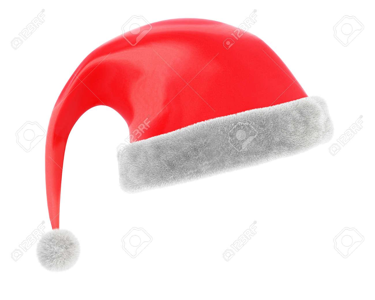 Foto de archivo - Gorro de Navidad aislado sobre fondo blanco.  Representación 3d a90b1f8d128