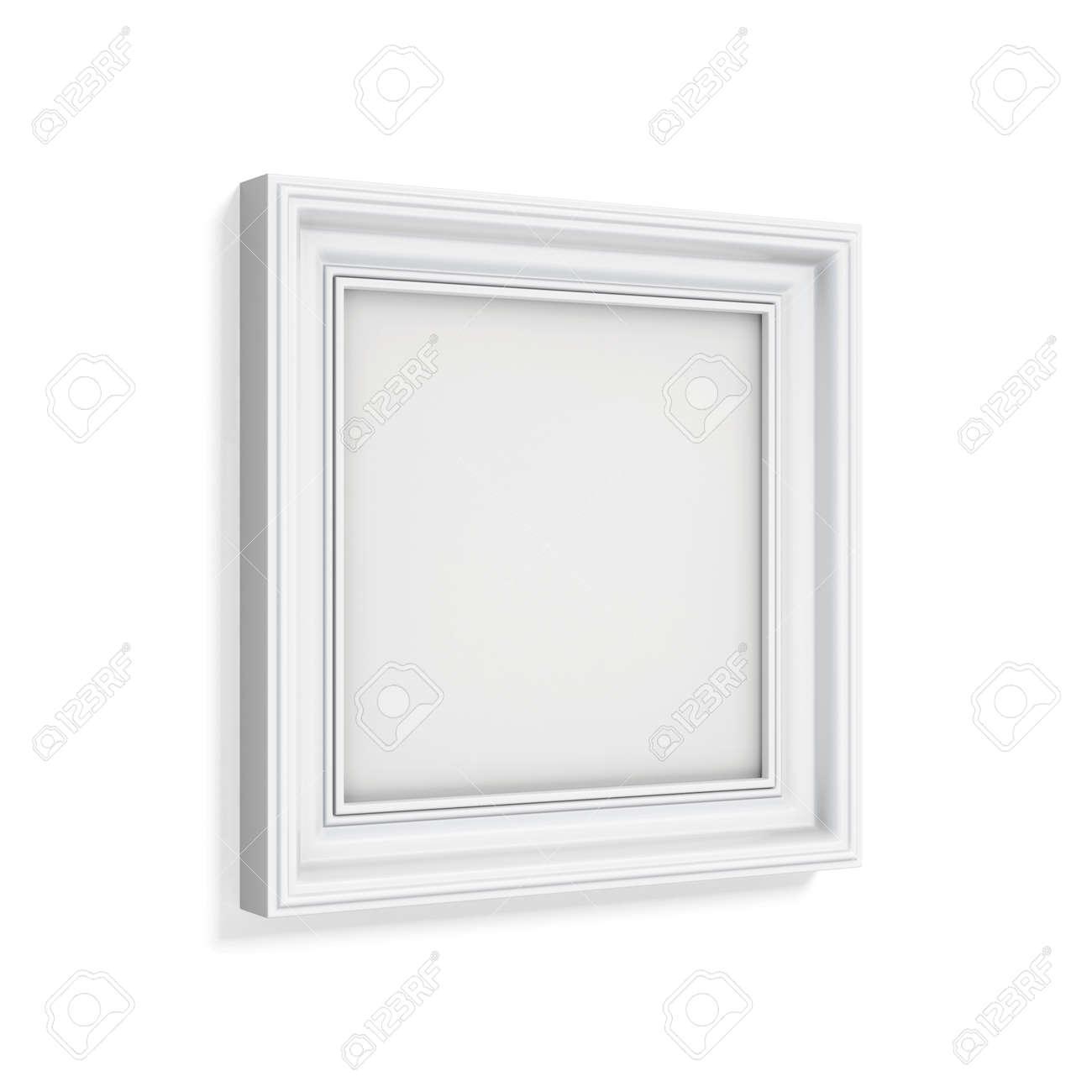 Quadratischer Bilderrahmen Lokalisiert Auf Weißem Hintergrund. 3D ...