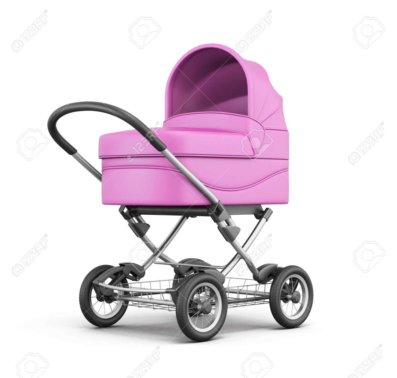 rosa kinderwagen