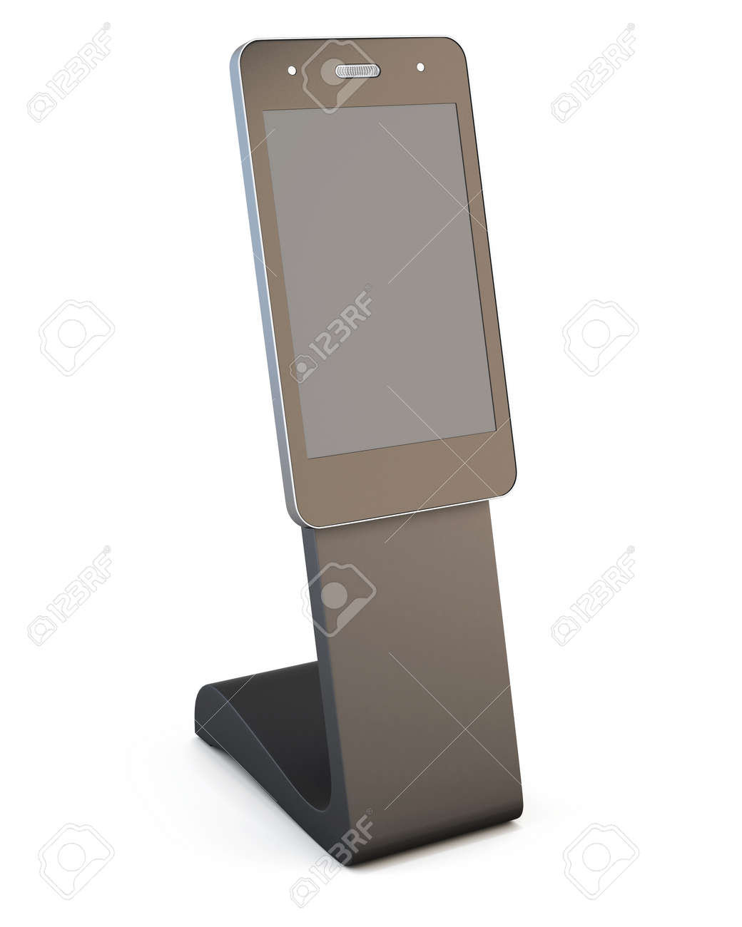 Immagini Stock Pubblicità Reception Informazioni Telefono Isolato