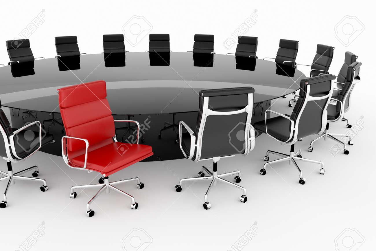 Réglée Une De Avec Table Chaise Rouge Conférence Yfv7Ib6gy
