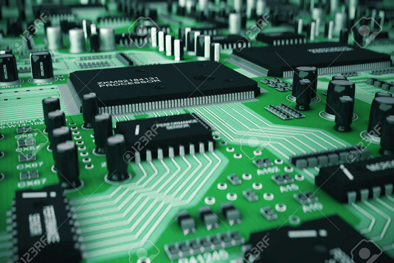 Shot Of Integrated Circuit Board Stock Photo Picture And Royalty 47638714
