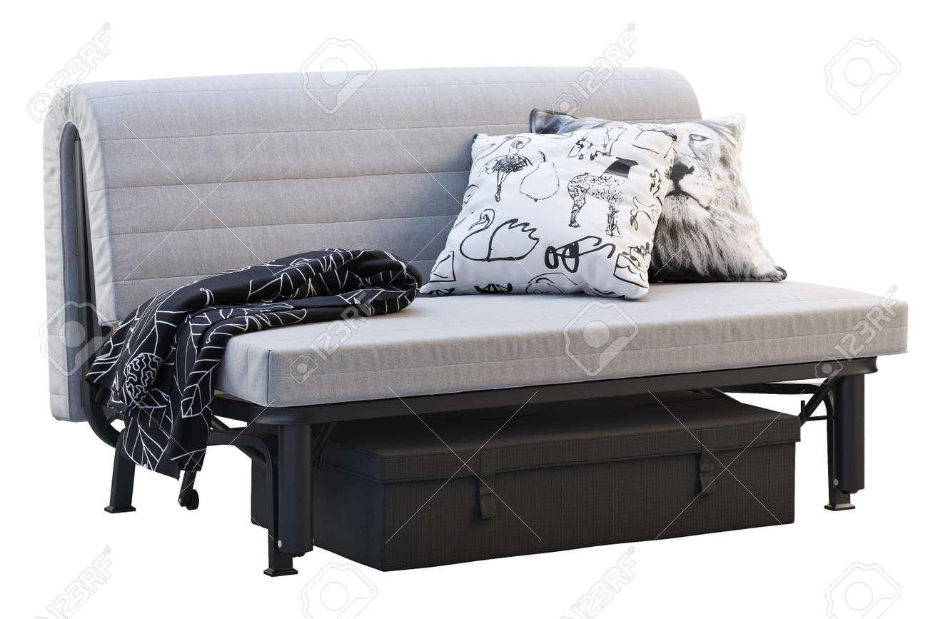 - Scandinavian Folding Sofa Bed In Folded Condition. Scandinavian