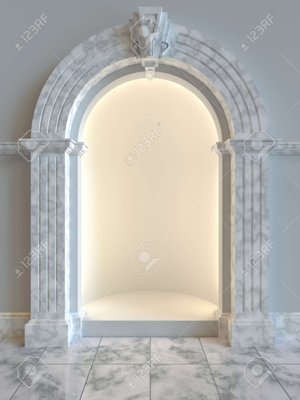 Classical style shop display left empty for product display Stock Photo - 22719558
