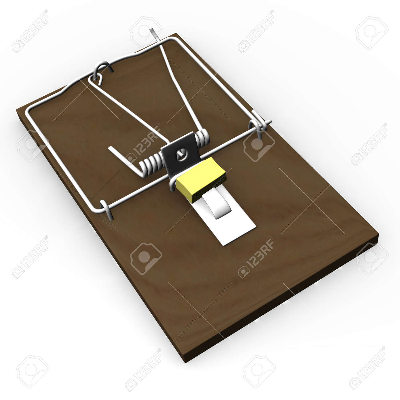 3d render of mouse trap Stock Photo - 12894916