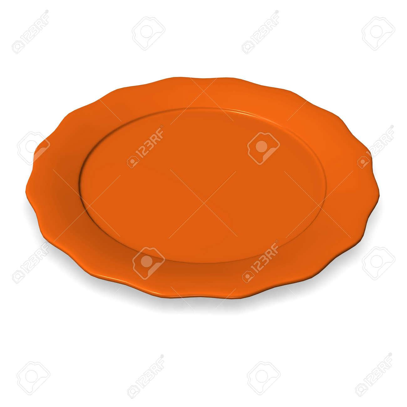 3d render of food plate Stock Photo - 12894572