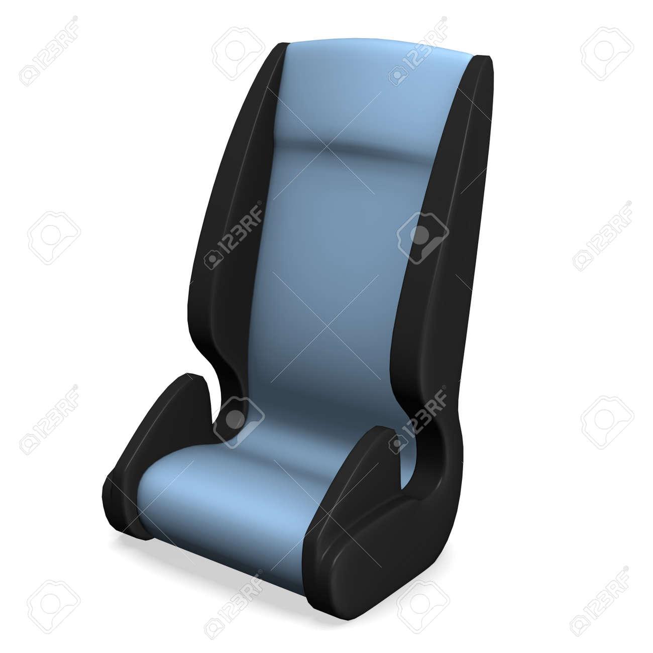 3d render of child car seat