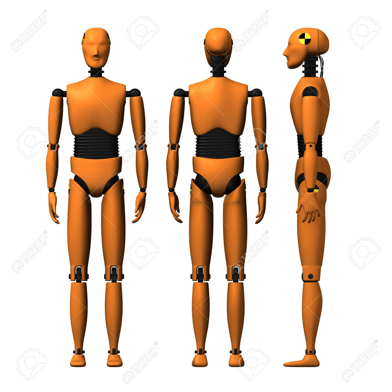11a1da994065 3d Render Of Car Crash Test Dummy Stock Photo, Picture And Royalty ...