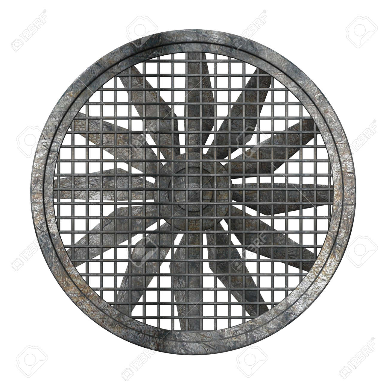 Verwonderend 3D Render Van Grote Industriële Ventilator Royalty-Vrije Foto EA-86