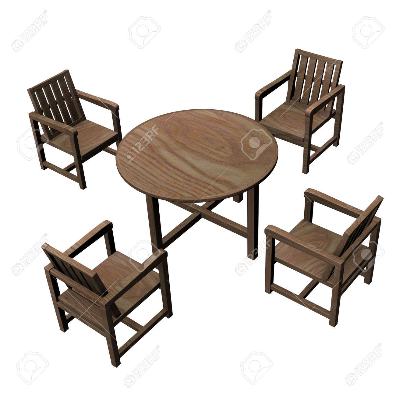 3d render of garden furniture stock photo 12906368 - Garden Furniture 3d