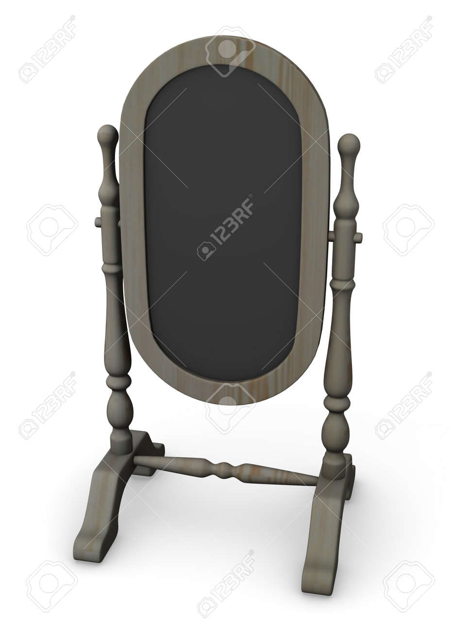 3d render of classical mirror Stock Photo - 12909486