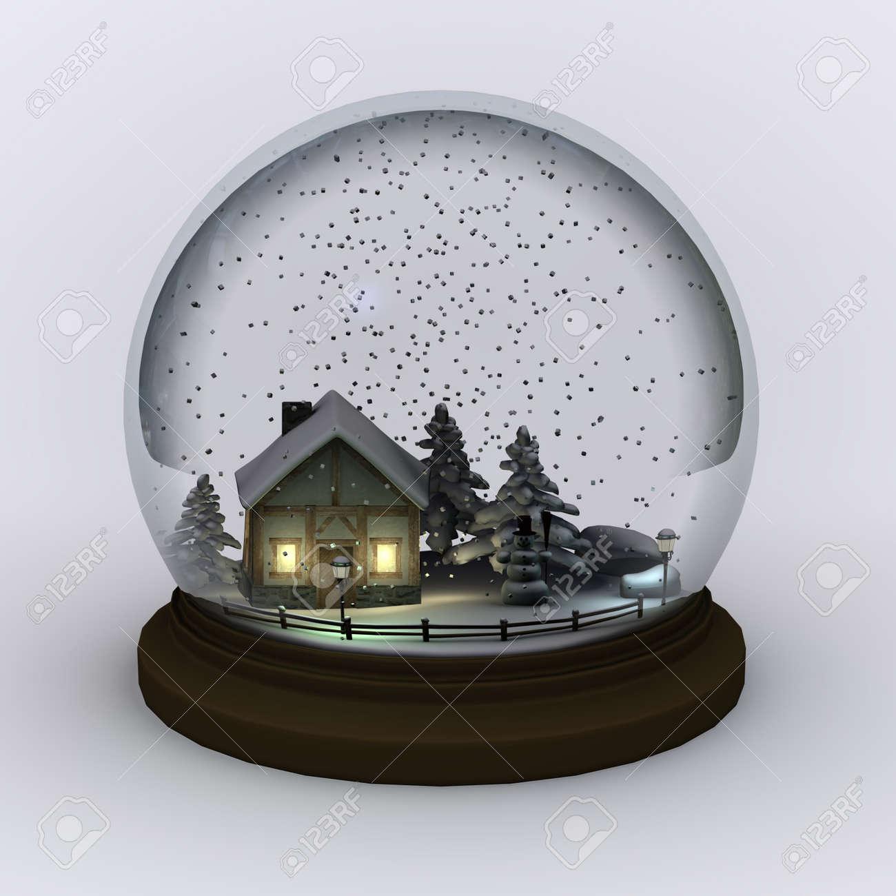Minimalist Snowball Snow Globe - The Green Head