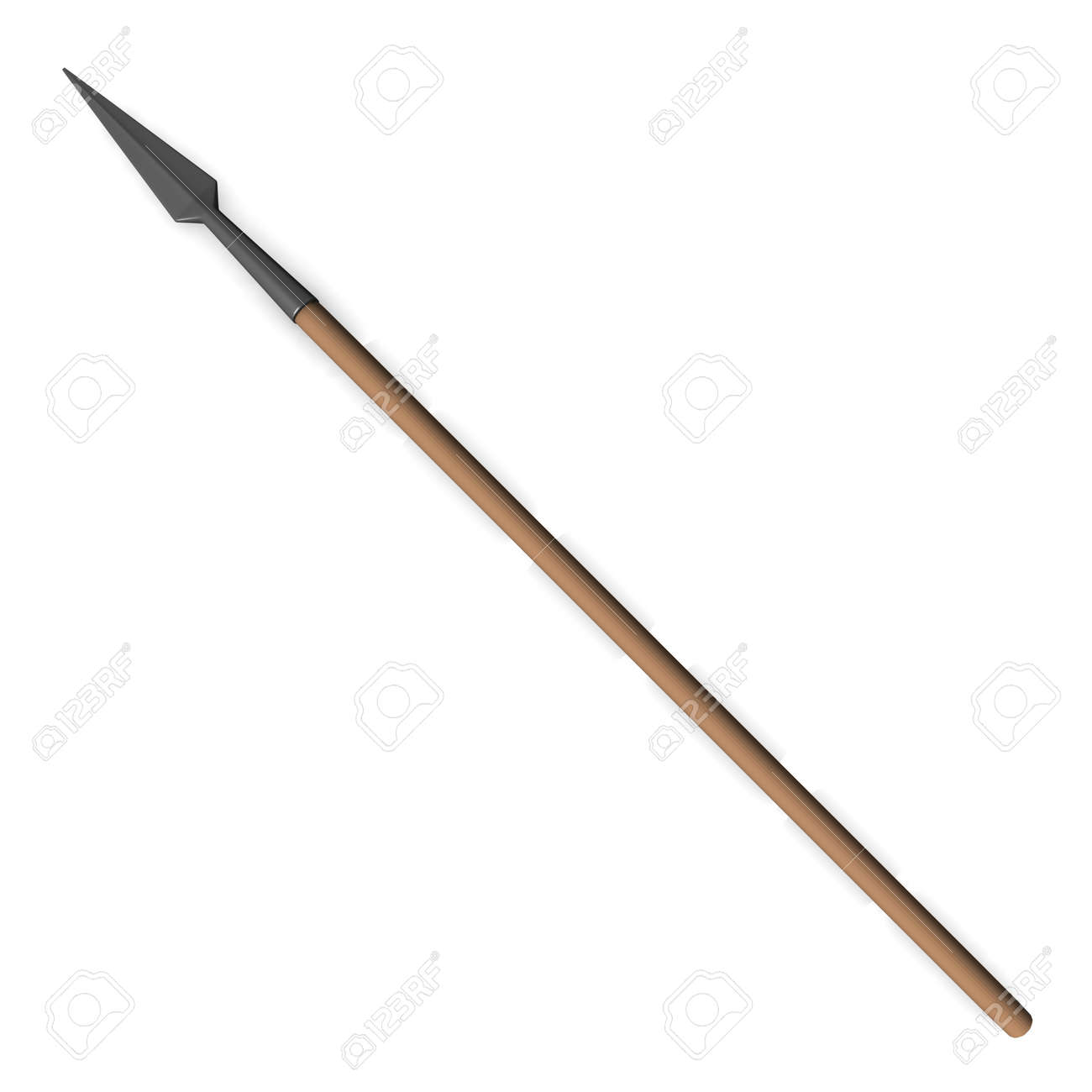 3d render of spear (weapon) Stock Photo - 12915306
