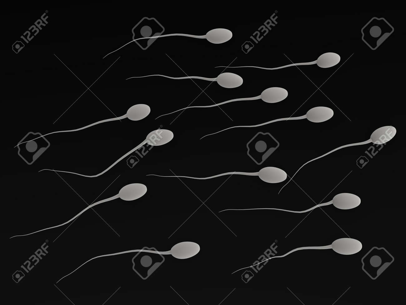 3d render of human sperms Stock Photo - 12914936