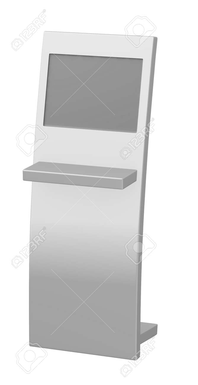 3d render of  terminal with screen Stock Photo - 13737573