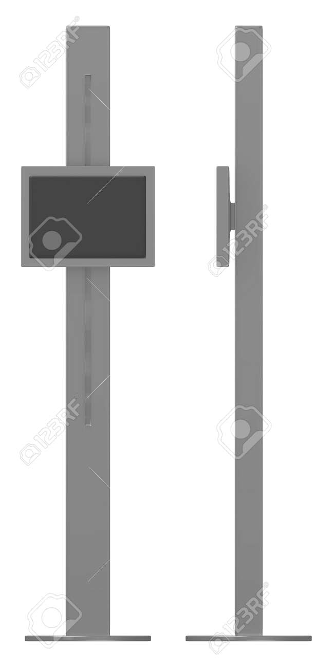 3d render of  terminal with screen Stock Photo - 13737764