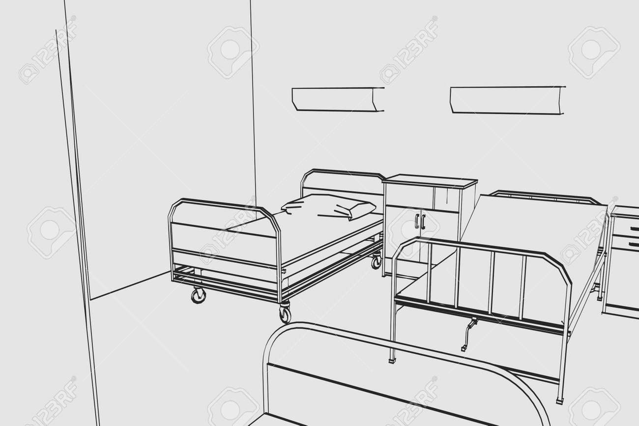 cartoon image of hospital room stock photo picture and royalty free rh 123rf com Hospital Room Drawing Emergency Room Sketch