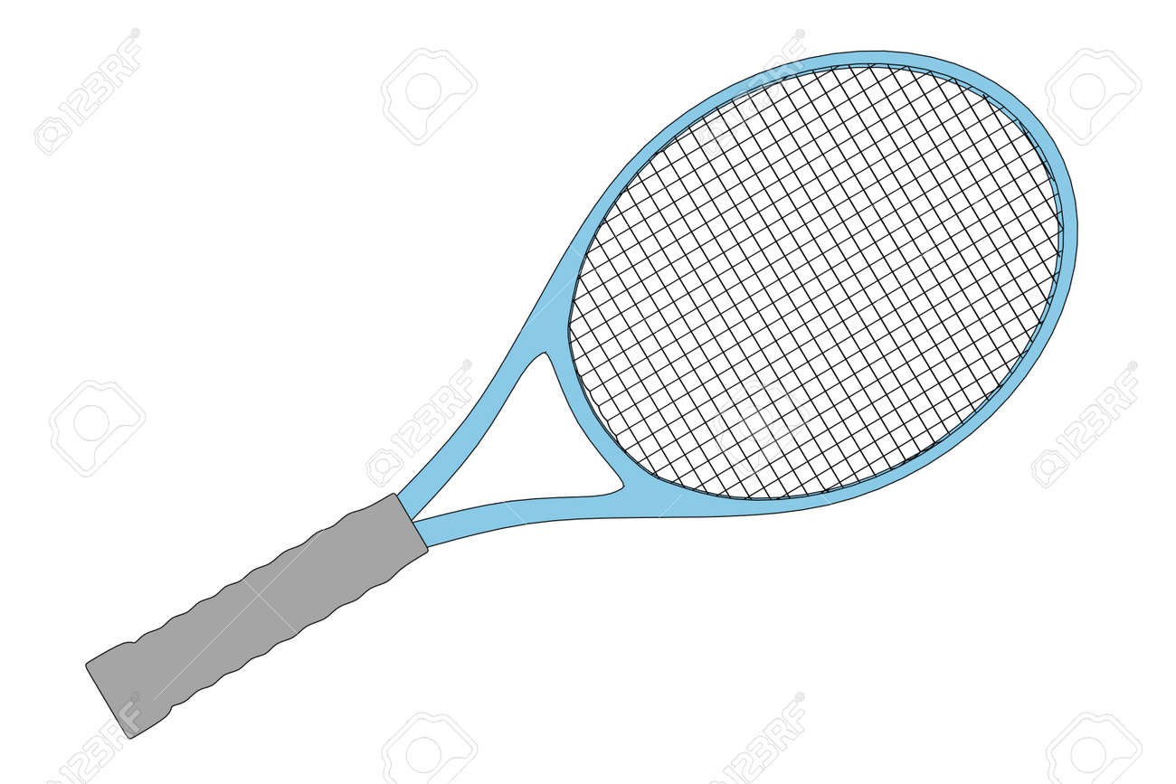 Cartoon Image Of Tennis Racket Stock Photo Picture And Royalty Free