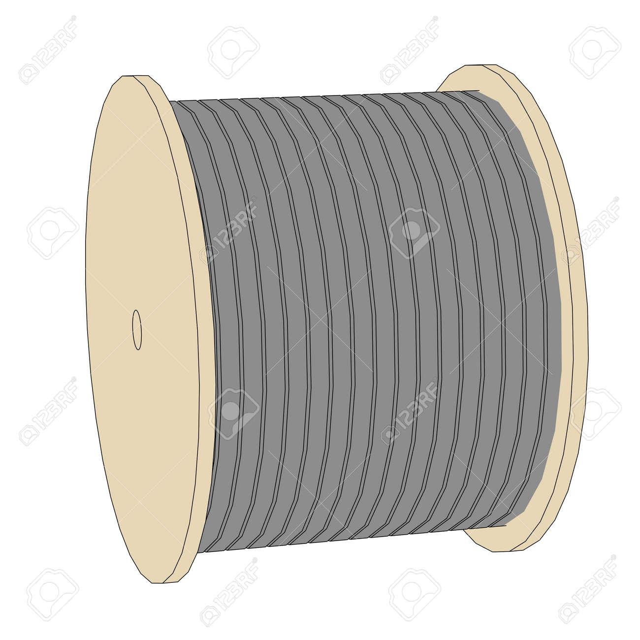 353 Wire Spool Stock Vector Illustration And Royalty Free Wire Spool ...