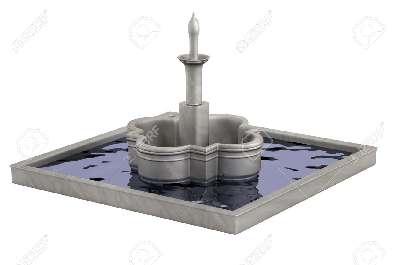 realistic 3d render of fountain