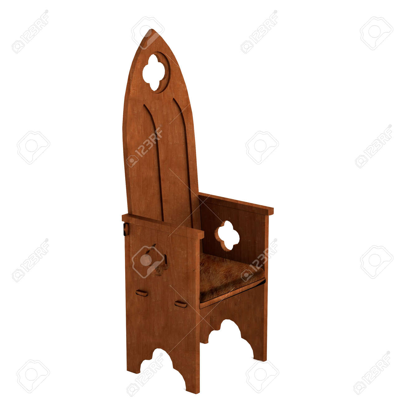 realistic 3d render of medieval chair Stock Photo - 27834846  sc 1 st  123RF.com : medieval chair - lorbestier.org