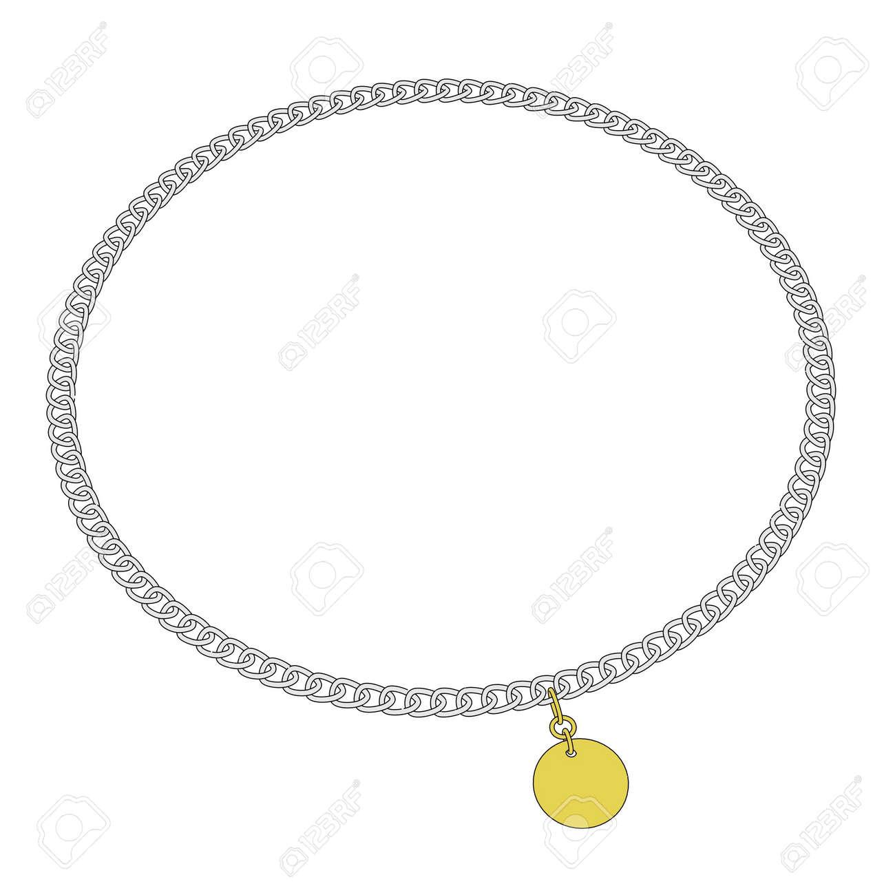 Bijoux Dessin image de dessin animé 2d de collier bijou banque d'images et photos