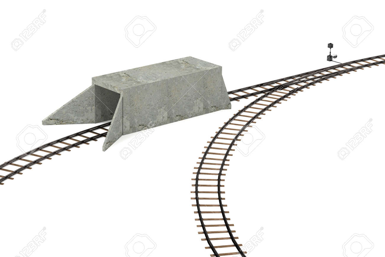 3d render of railway track
