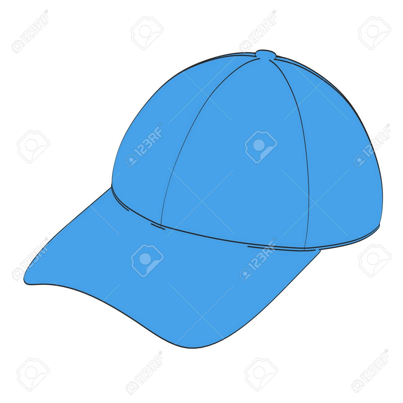 野球帽の 2 D 漫画イラスト の写真素材画像素材 Image 55244860