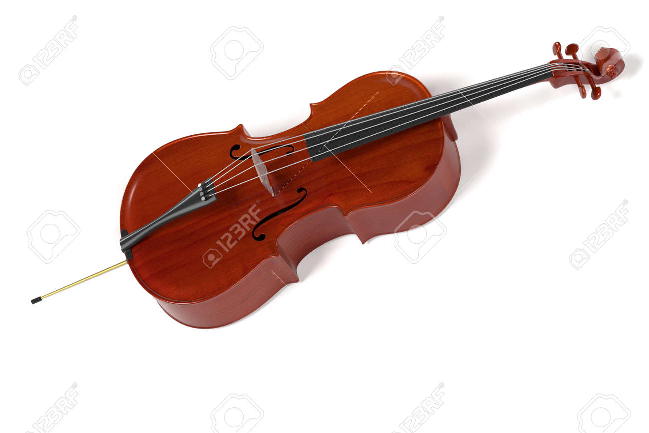 3d Rendering Of Cello Musical Instrument