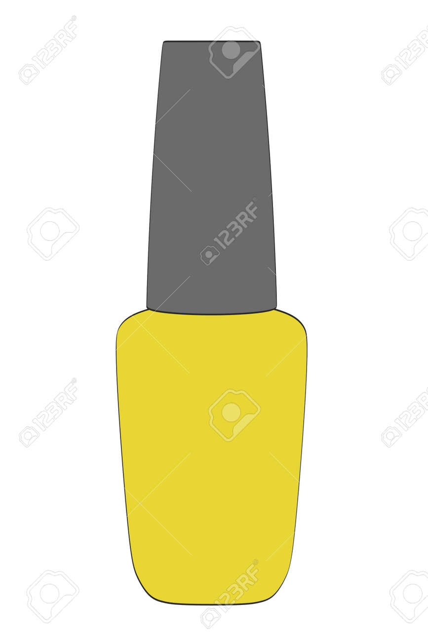 2d Cartoon Illustration Of Nail Polish Stock Photo, Picture And ...