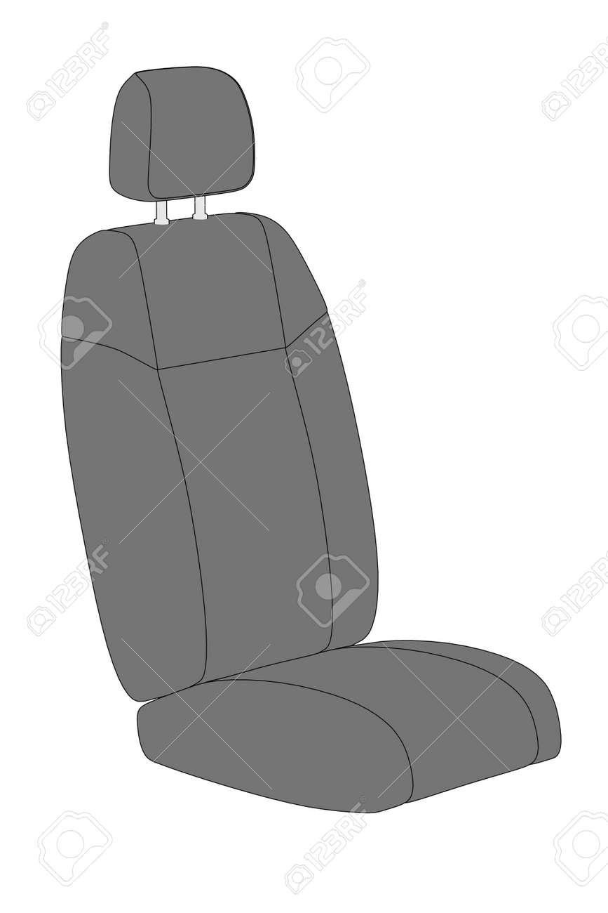 2d Cartoon Illustration Of Car Seat Stock Photo, Picture And Royalty ...