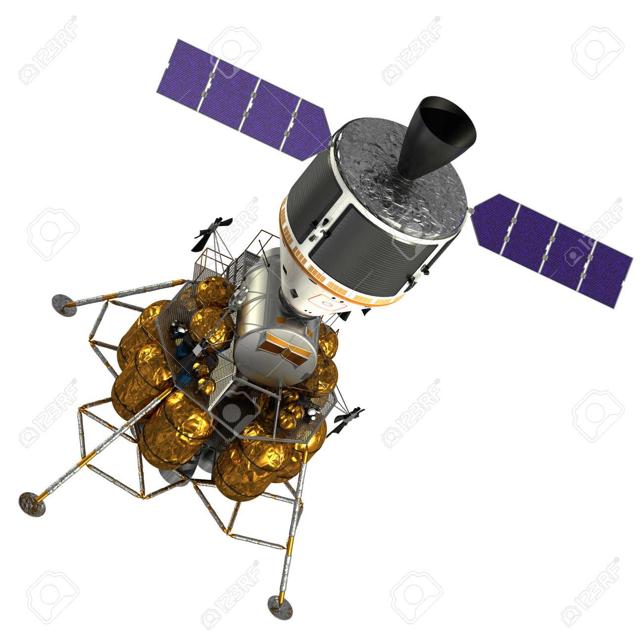 Crew Exploration Vehicle On White Background. 3D Model. - 36672775