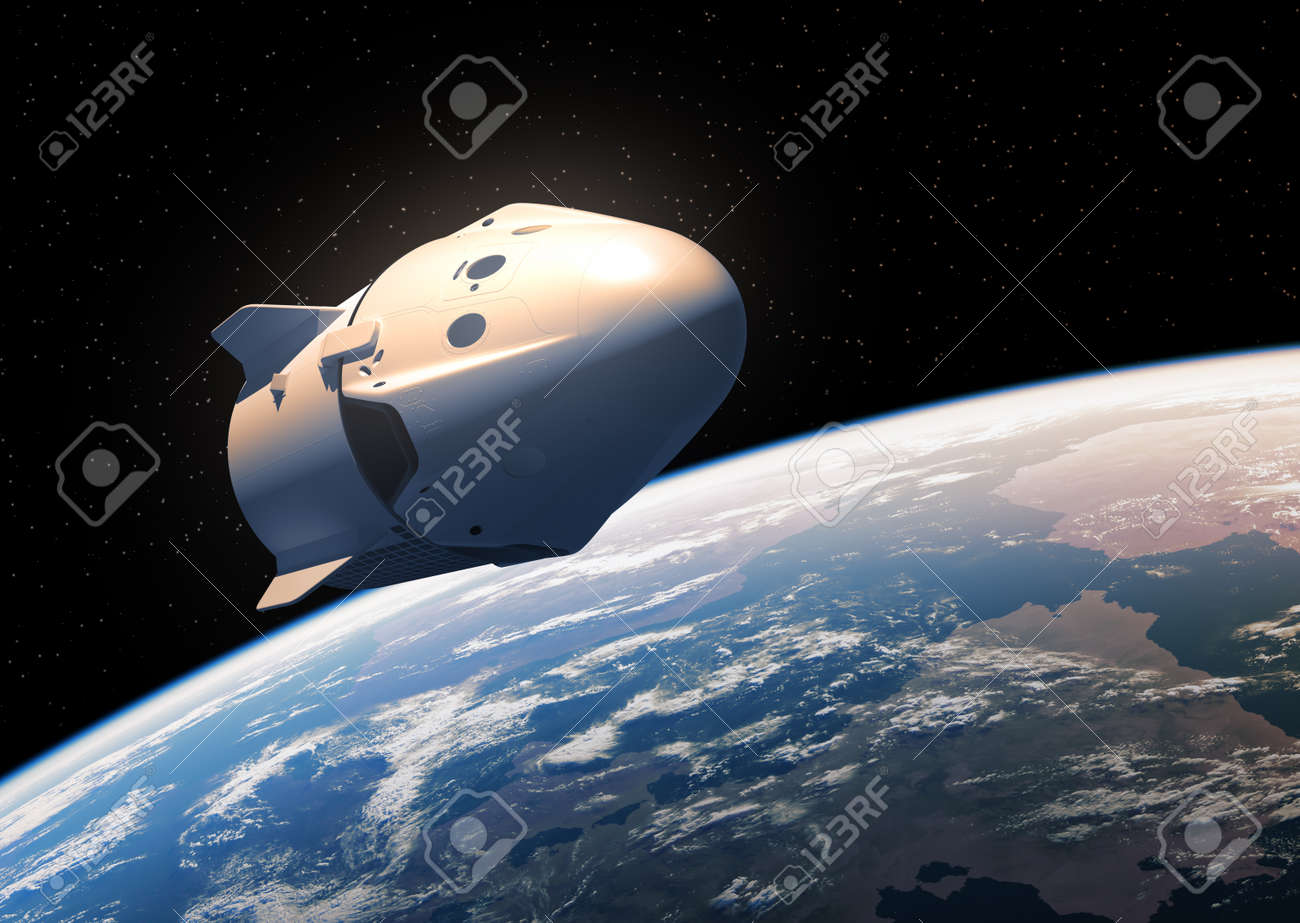 First Commercial Spacecraft Orbiting In Outer Space - 123757973