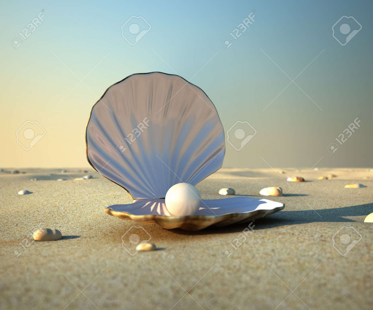 oyster shell  An open sea Open Oyster Shell With Pearl