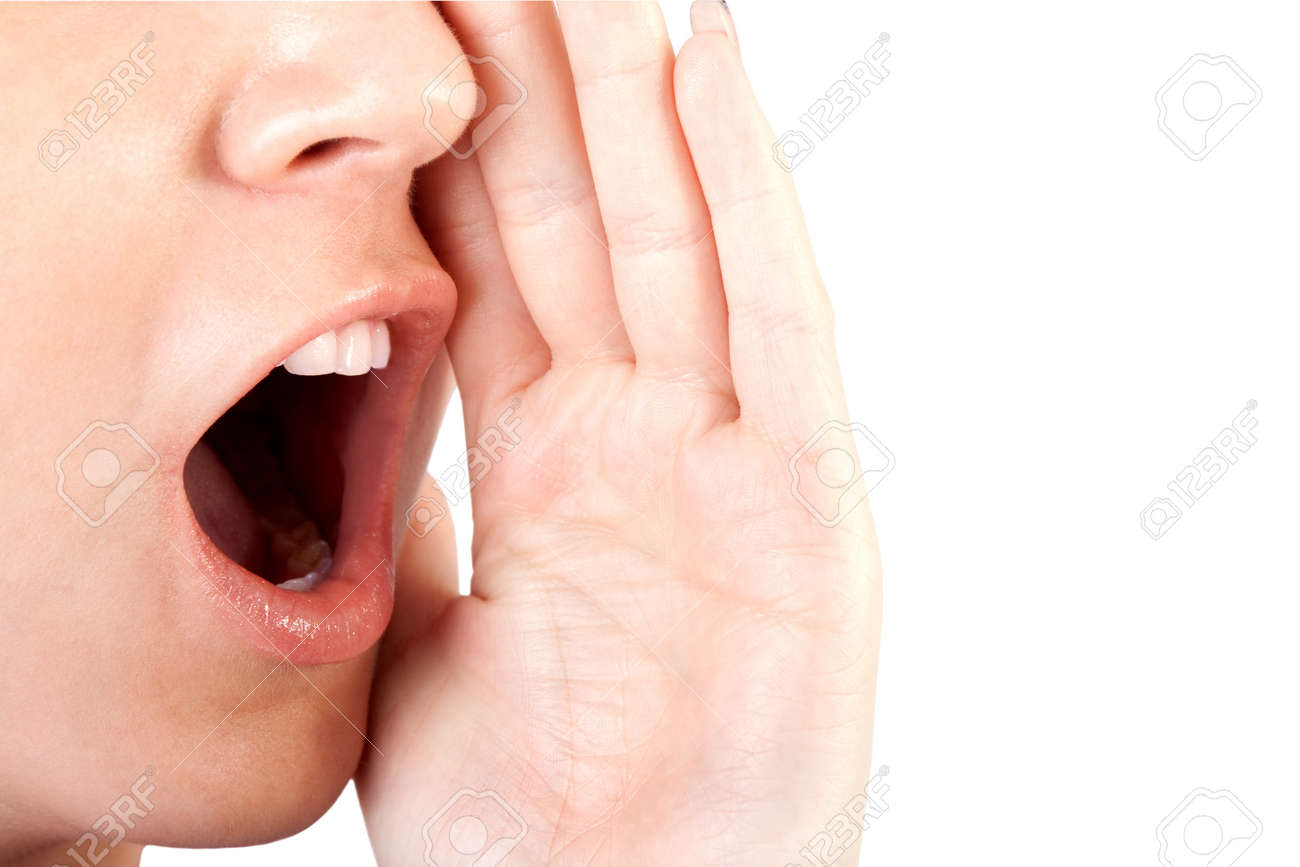 Woman shouting   screaming isolated Stock Photo - 16161643