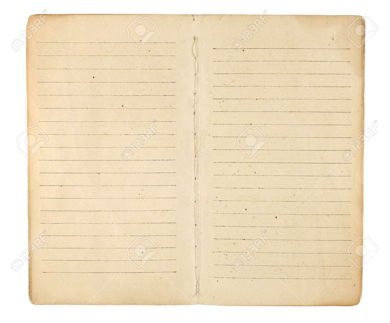 an old memo book or diary opened to reveal yellowing blank an old memo book or diary opened to reveal yellowing blank lined facing pages