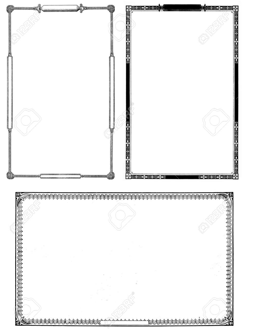 Collection Of Three Moderately Distressed Frames From The Nineteenth ...