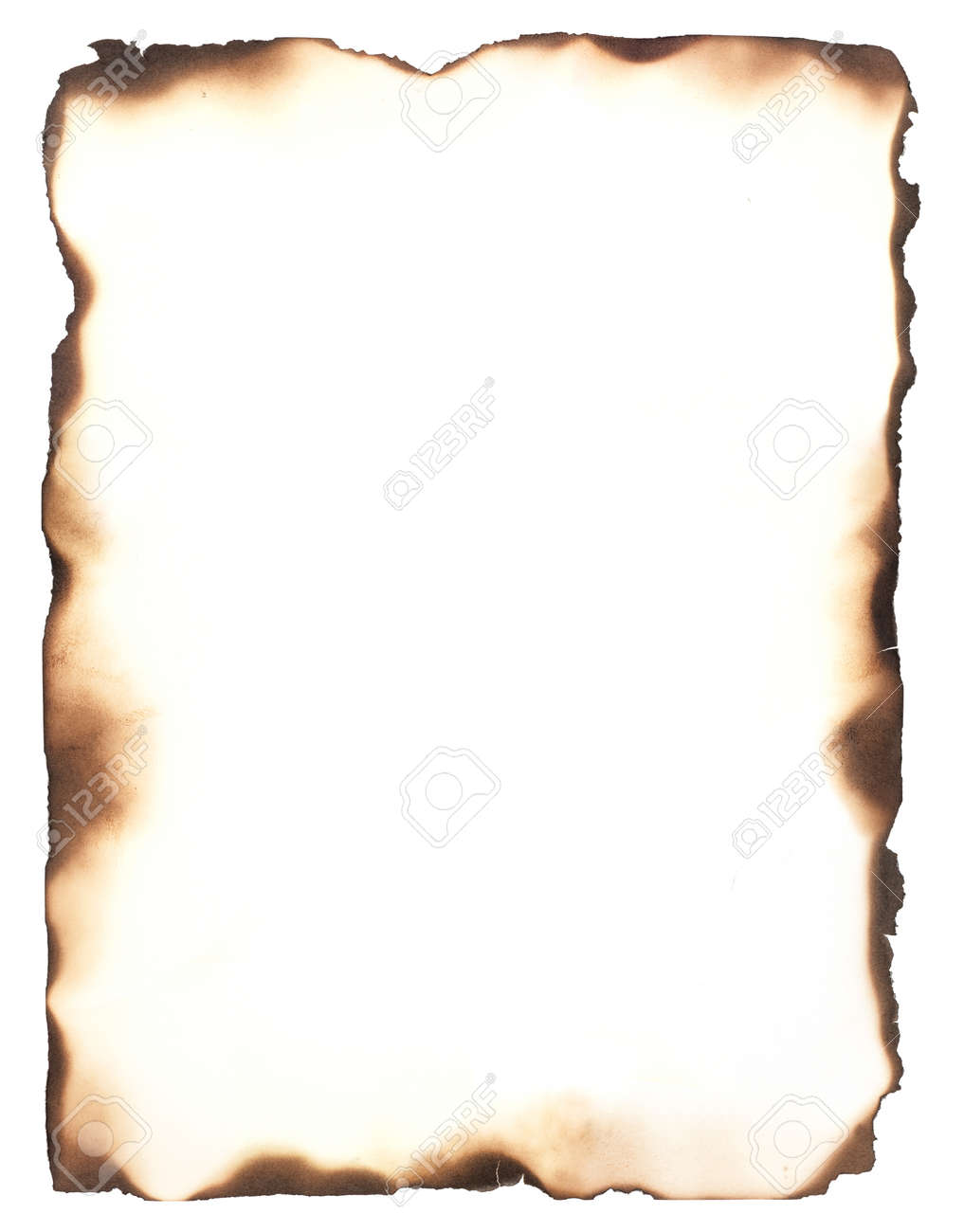 Burned Edges Isolated On White Use As A Frame Or Composite With ...