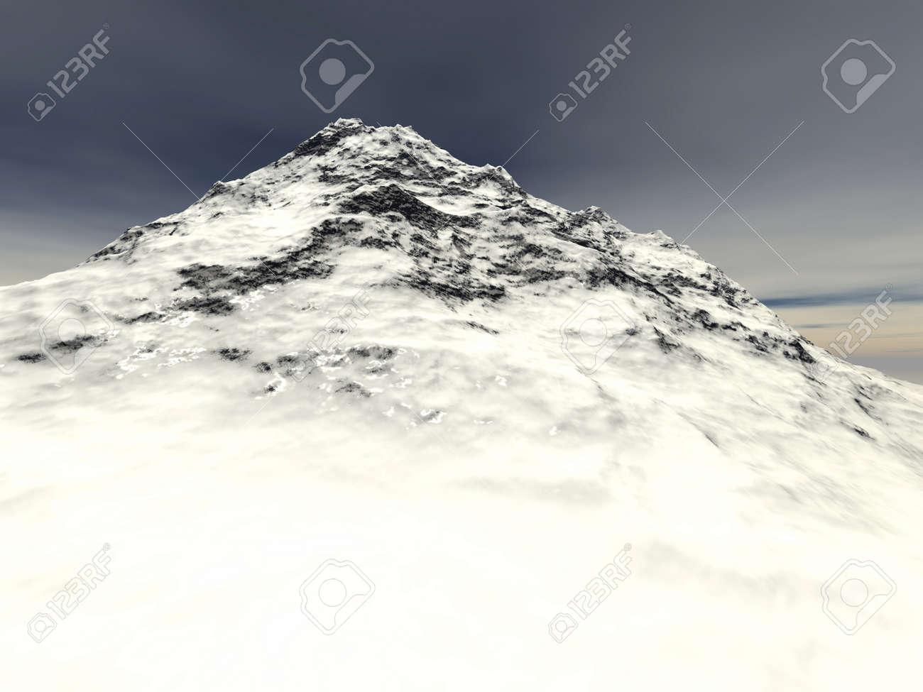 Digital visualization of a surreal landscape Stock Photo - 8070499