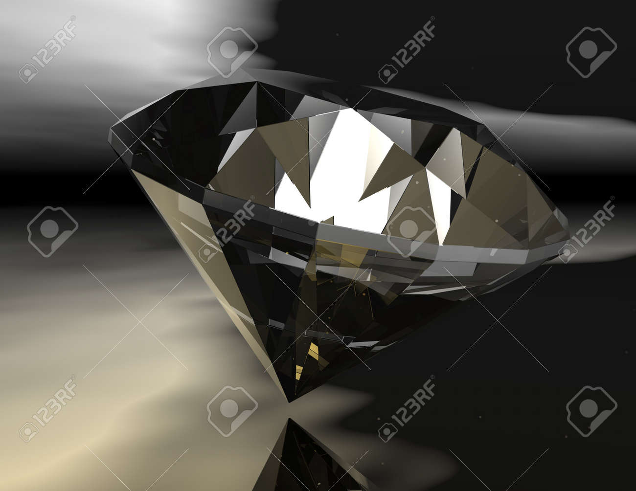 digital rendering of a diamond Stock Photo - 8076598