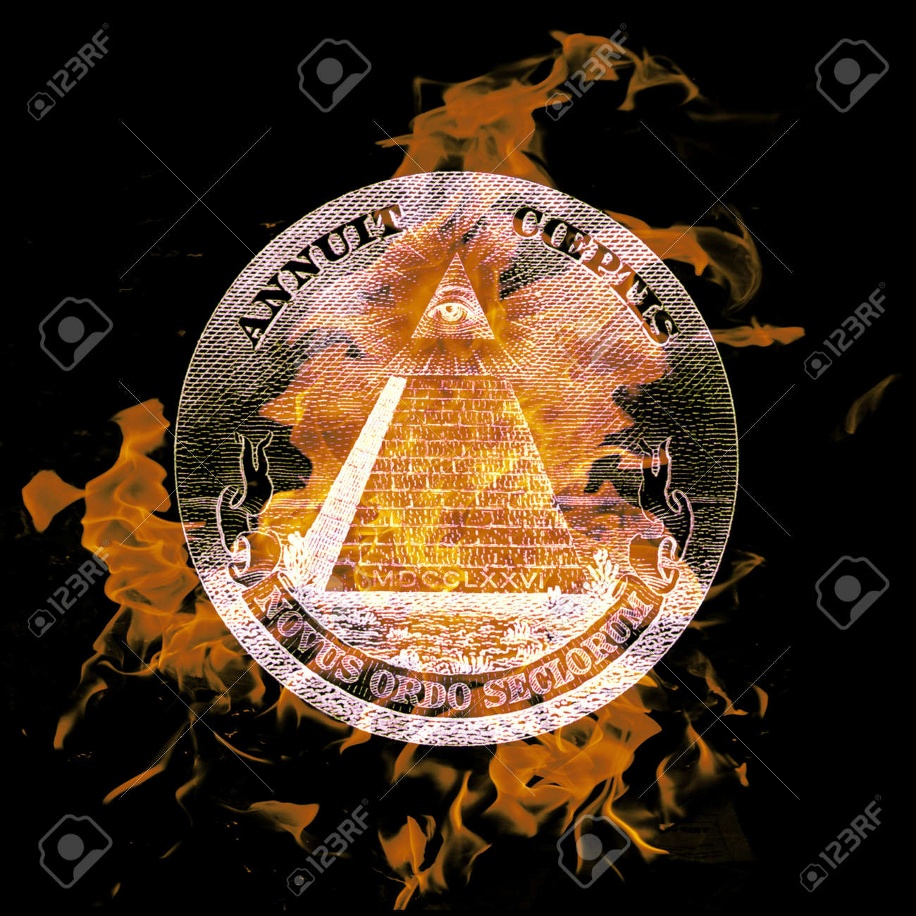 digital composition of a burning symbol Stock Photo - 8118181