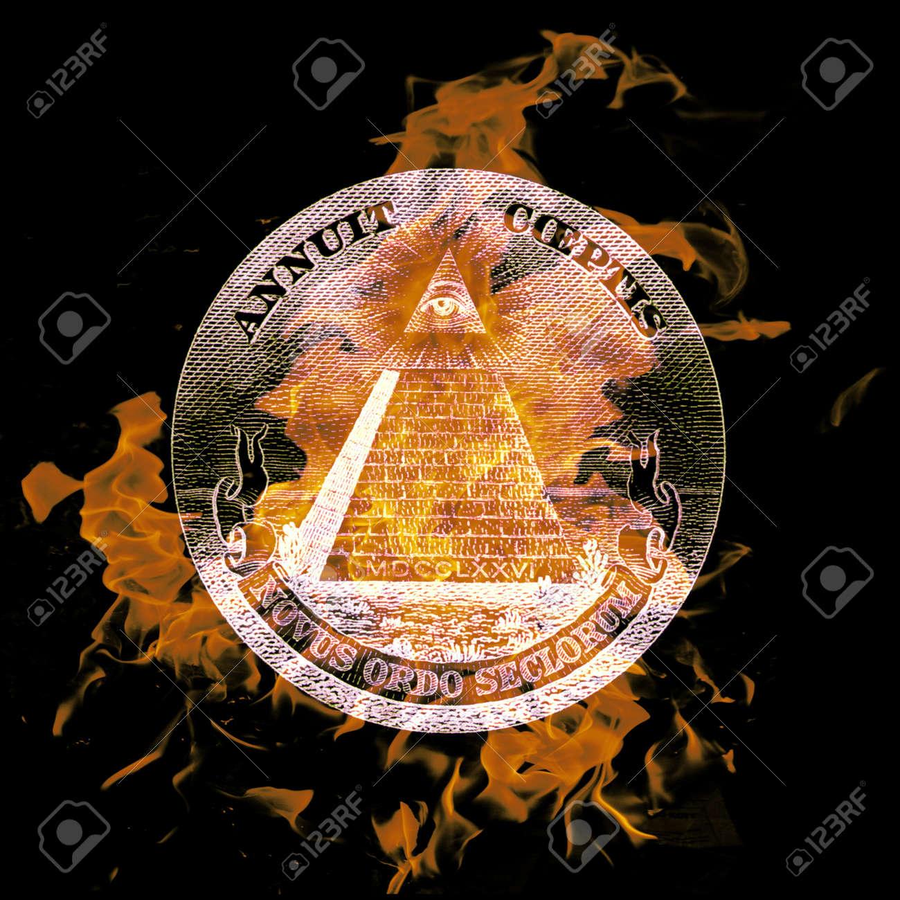 digital composition of a burning symbol - 8118181