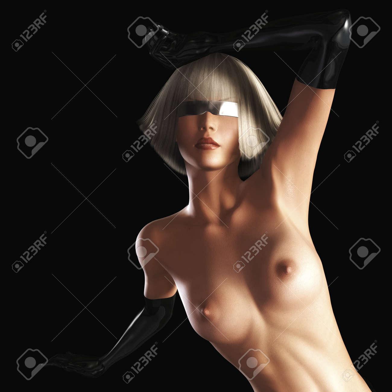 Digital visualization of a girl Stock Photo - 8190778