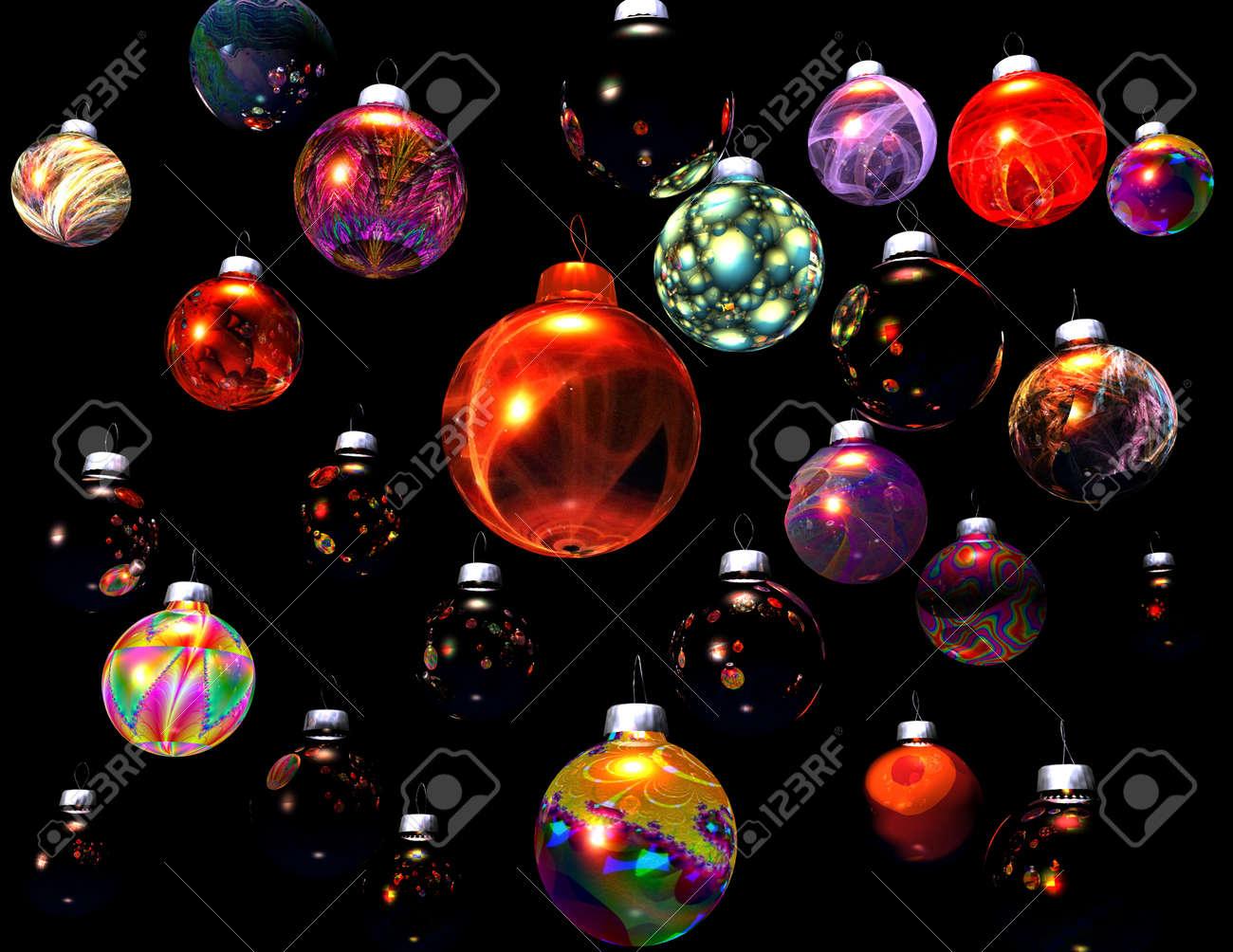 digital visualization of christmas decoration Stock Photo - 8303884